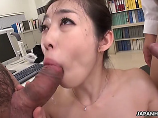 Tryst secretary ryu stays after work to be double teamed