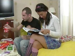 Russian Teen With Pigtails Anal Coition