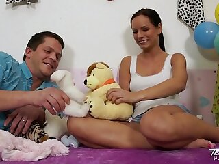 Teenyplayground Super hot teen Kari fucked by older ugly man upon their way bed