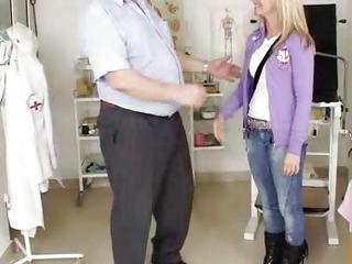 Blonde teen toddler Bella Anne fetish hospital vagina exam